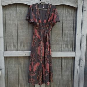 Art Deco Inspired Free People Wrap Dress - size S